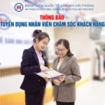 Thông tin tuyển dụng vị trí Chăm sóc khách hàng Bệnh viện Quốc tế Sản Nhi Hải Phòng