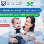 Tăng cường bác sĩ Nhi Trung Ương khám tại Bệnh viện vào cuối tuần